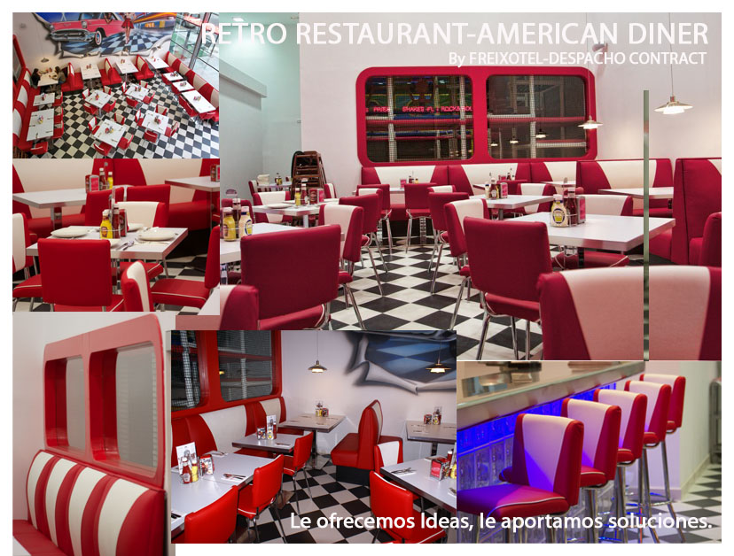 Mobiliario para restaurantes diner americanos despacho for Mobiliario anos 50