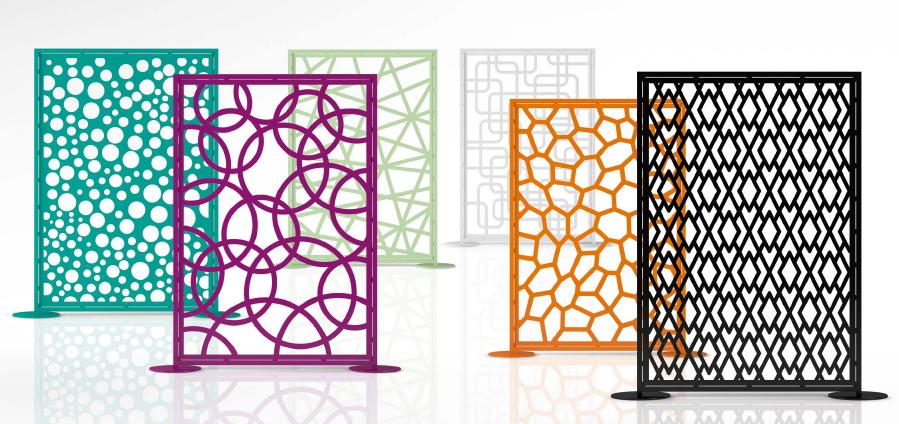Biombos y separadores paris despacho contract - Separadores de ambientes de cristal ...