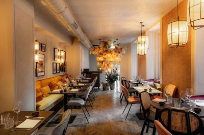 green tea principal mesas y sillas de restaurante
